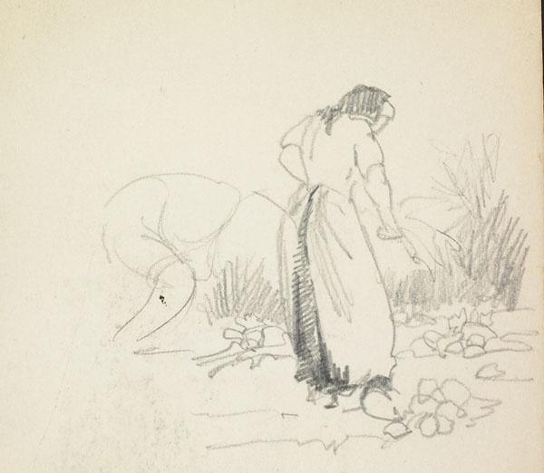 Peasants harvesting crops, Belgium