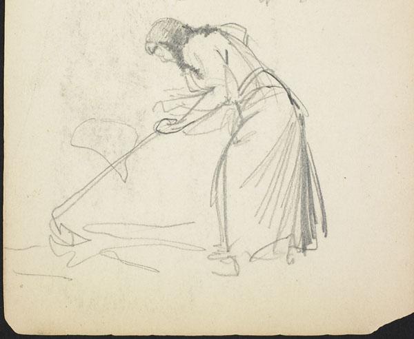 Woman tilling the soil, Belgium