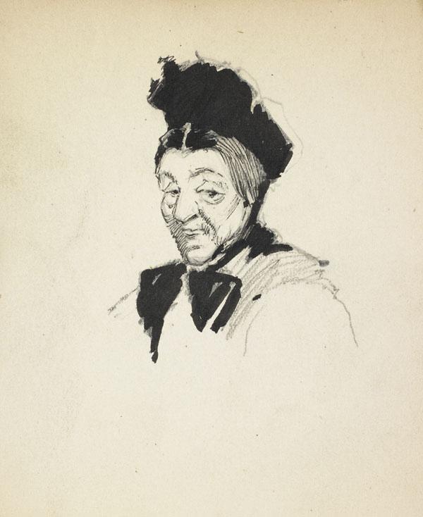 Woman wearing a black headdress and ribbon, Belgium