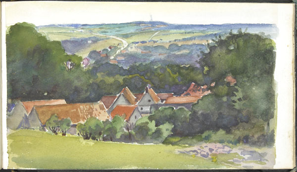 View of a small town in a hilly landscape, Pas-de-Calais (e008315544)
