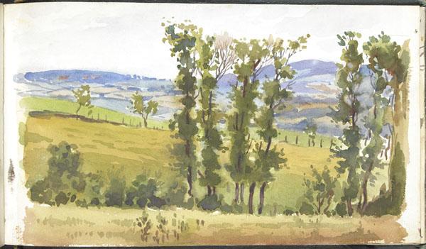 Hilly landscape, Pas-de-Calais