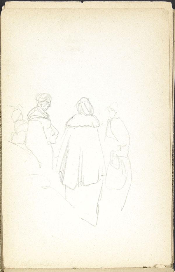 Four women in a public space