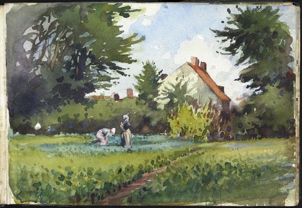 Women in a meadow, Pas-de-Calais