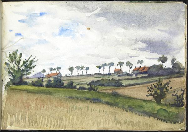 Landscape with a distant view of a spoil heap, Pas-de-Calais