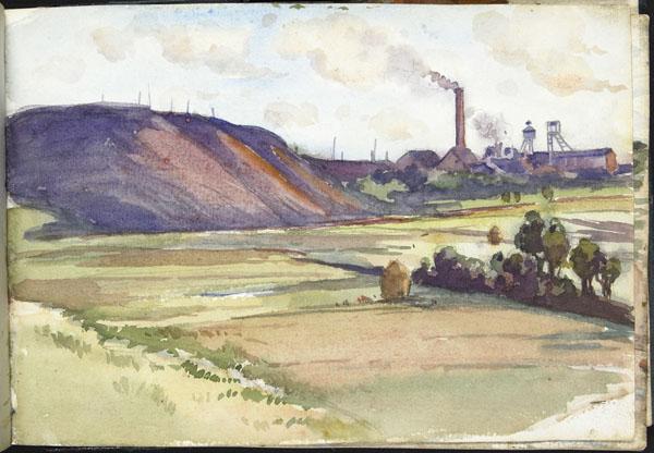 Mines de charbon dans les environs d'Auchel, Pas-de-Calais