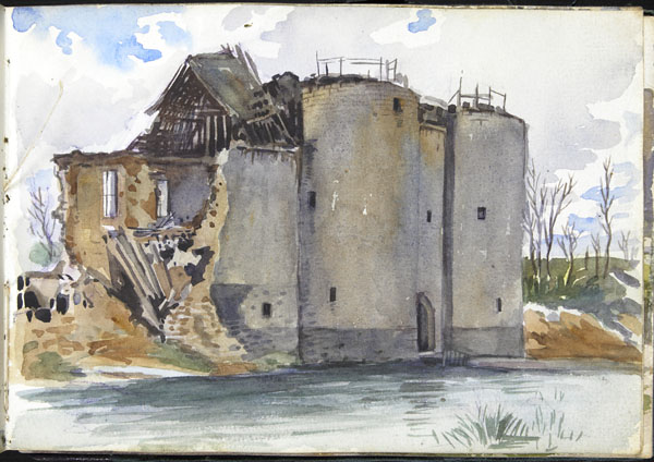 Ruins of a waterfront castle, Somme