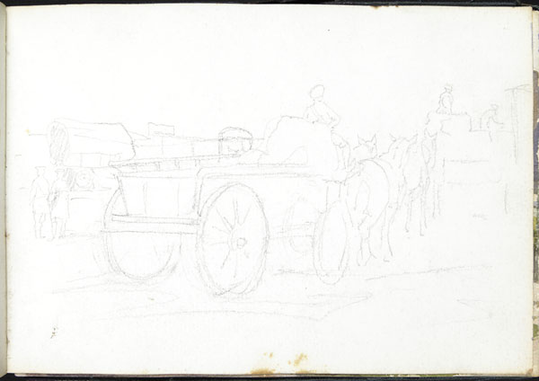 Military convoy in transit, Somme
