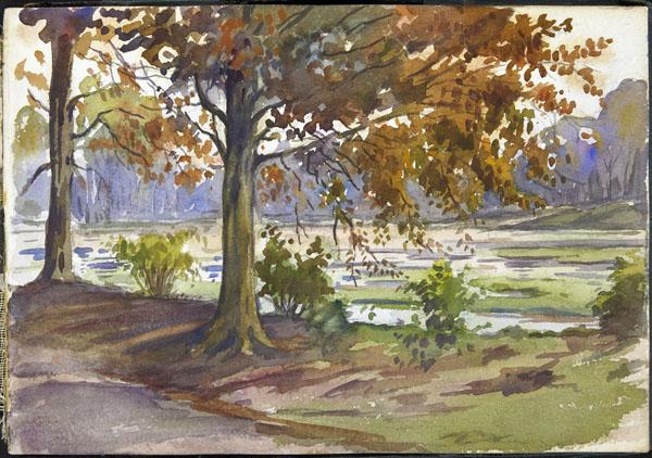 River landscape, Somme