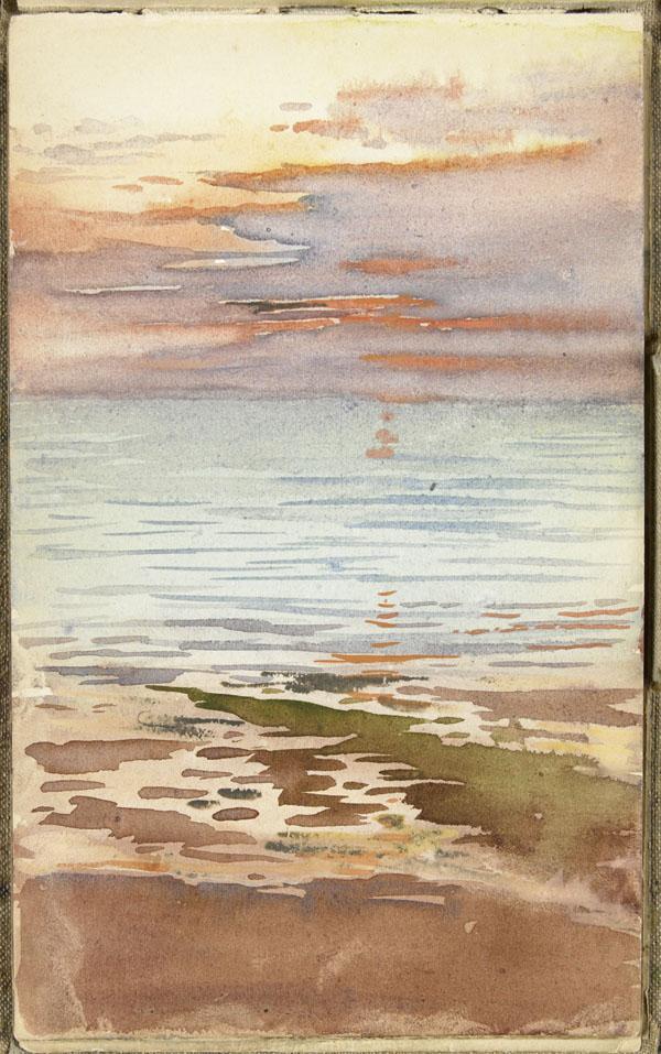 Coucher de soleil sur l'eau, Wimereux