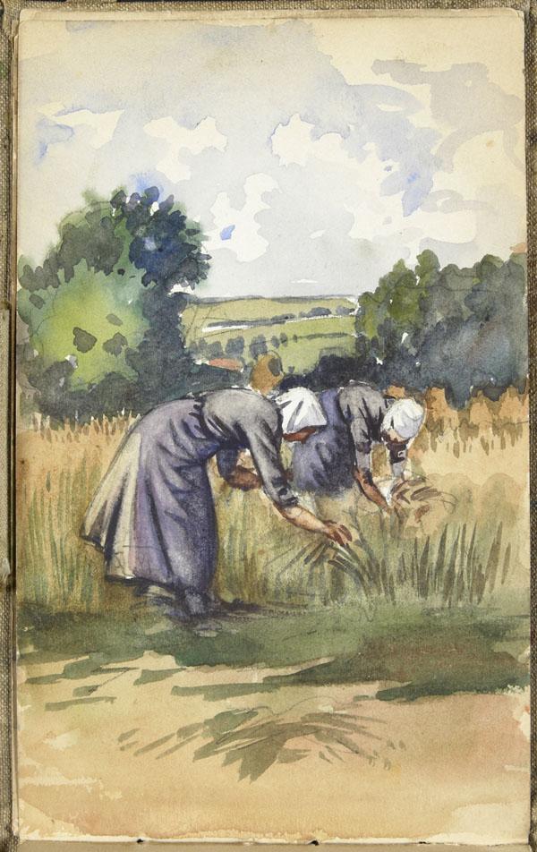 Deux femmes travaillant aux champs, Pas-de-Calais