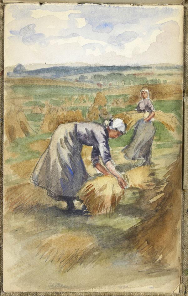 Deux femmes faisant la récolte, Pas-de-Calais