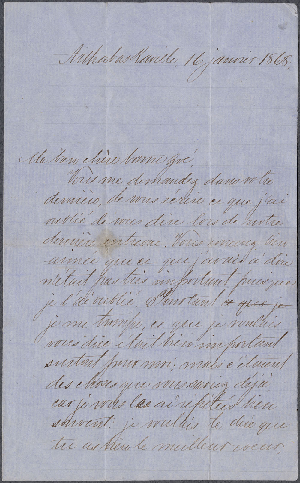[Correspondence] Wilfrid Laurier  Zo p.d. et 1863-1890. (item 5)