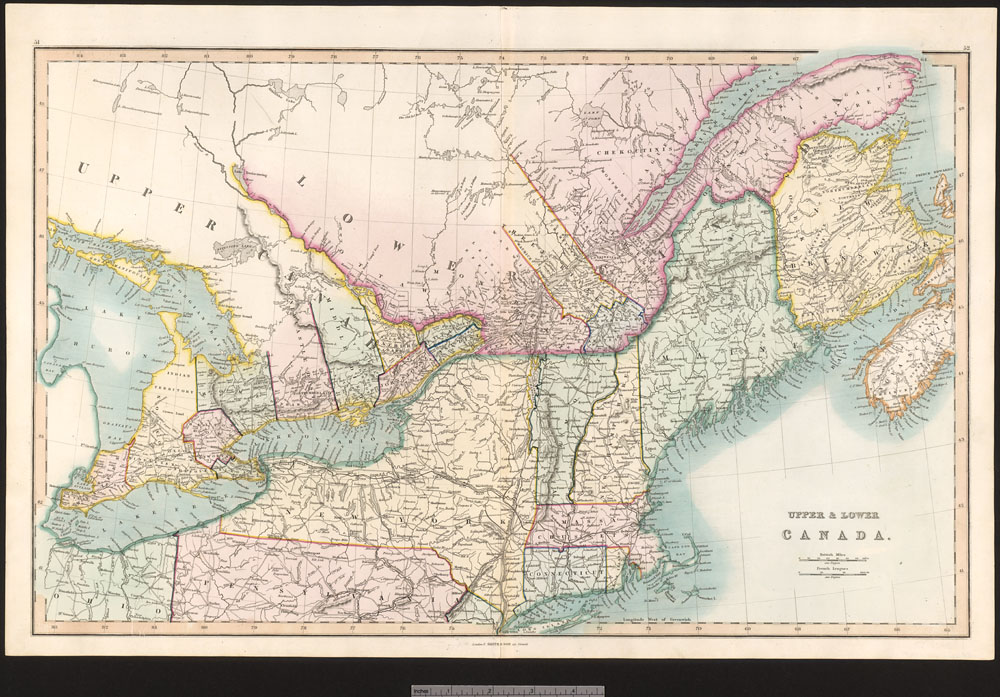 Upper & Lower Canada [cartographic material] /  (item 1)