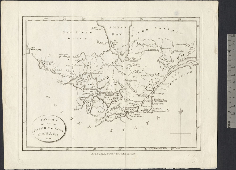 A new map of Upper & Lower Canada, 1798 (item 1)