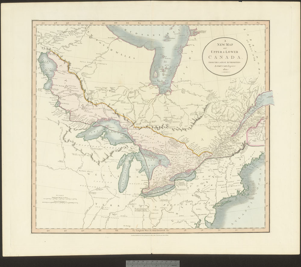 A new map of Upper & Lower Canada, from the latest authorities [cartographic material] / (item 1)