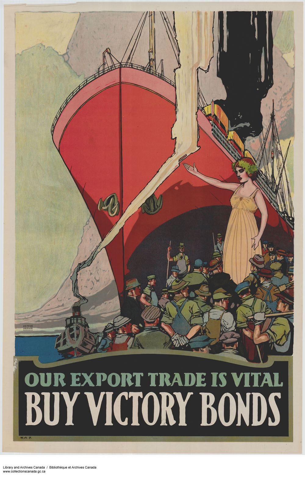 Our Export Trade Is Vital :  victory loan drive. (item 1)