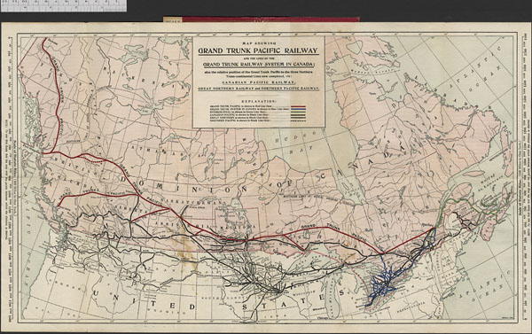 canadian pacific system map Item 73 Maps Plans And Charts Lac canadian pacific system map