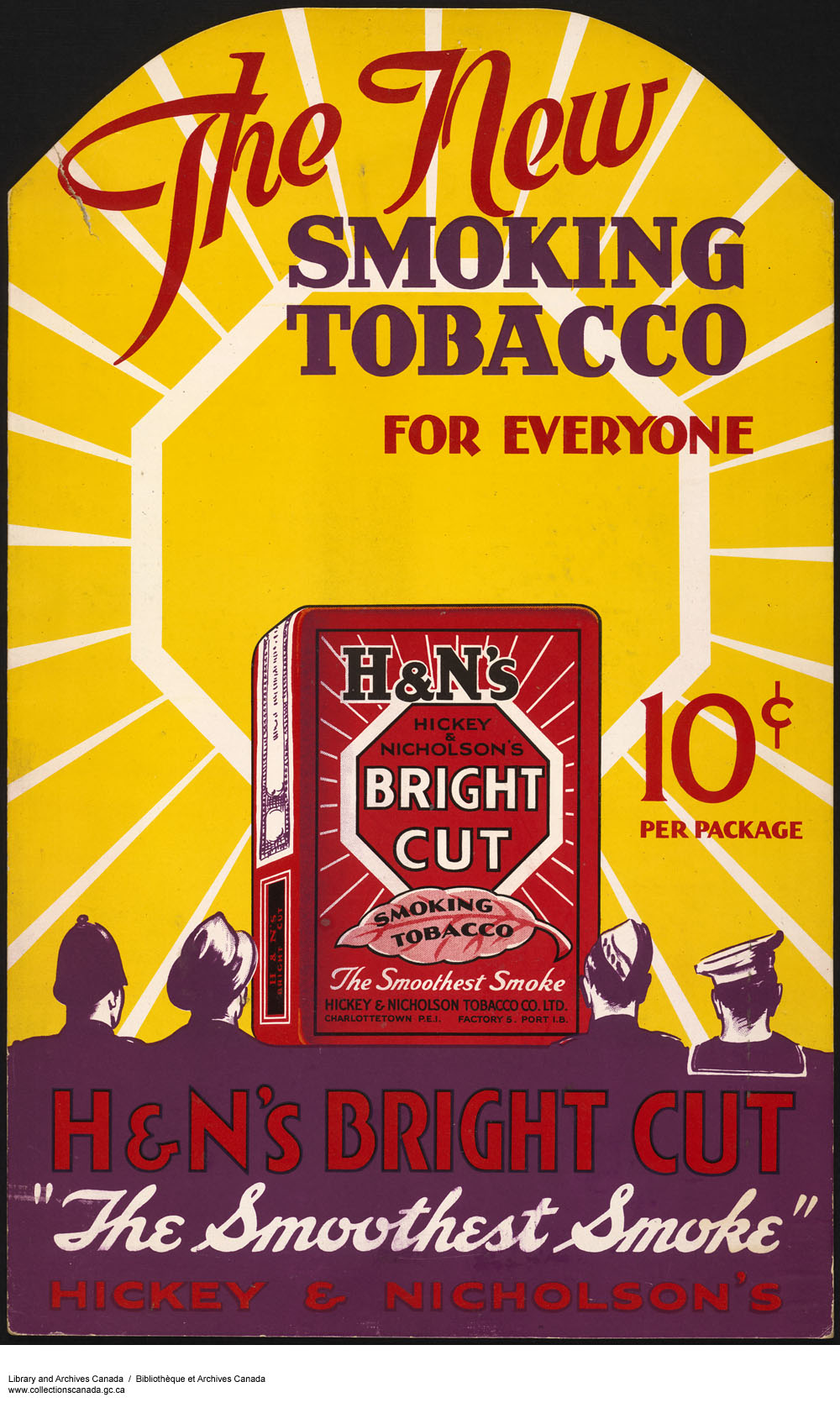 The New Smoking Tobacco H&N's Bright Cut. (item 1)