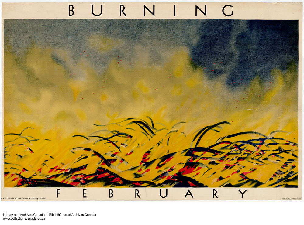 Burning, February. (item 1)