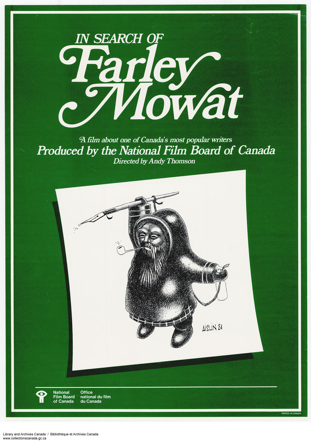 In Search of Farley Mowat . (item 1)
