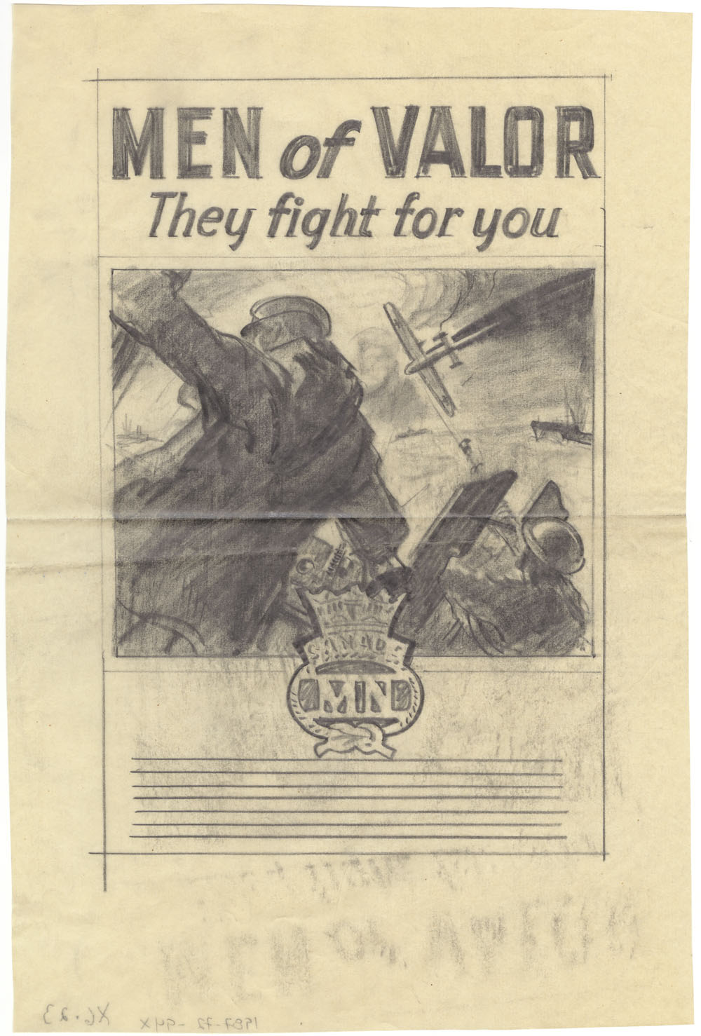 "Study for ""Men of Valor. They Fight For You"" :  war propaganda campaign - World War II. (item 1)"