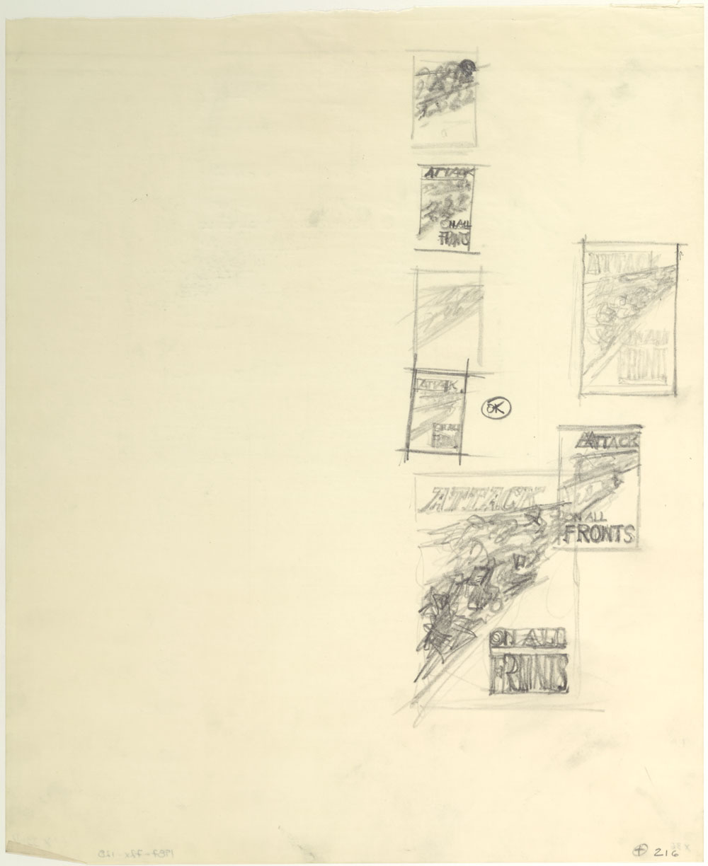 "Seven Studies for the War Poster ""Attack on All Fronts"". (item 1)"