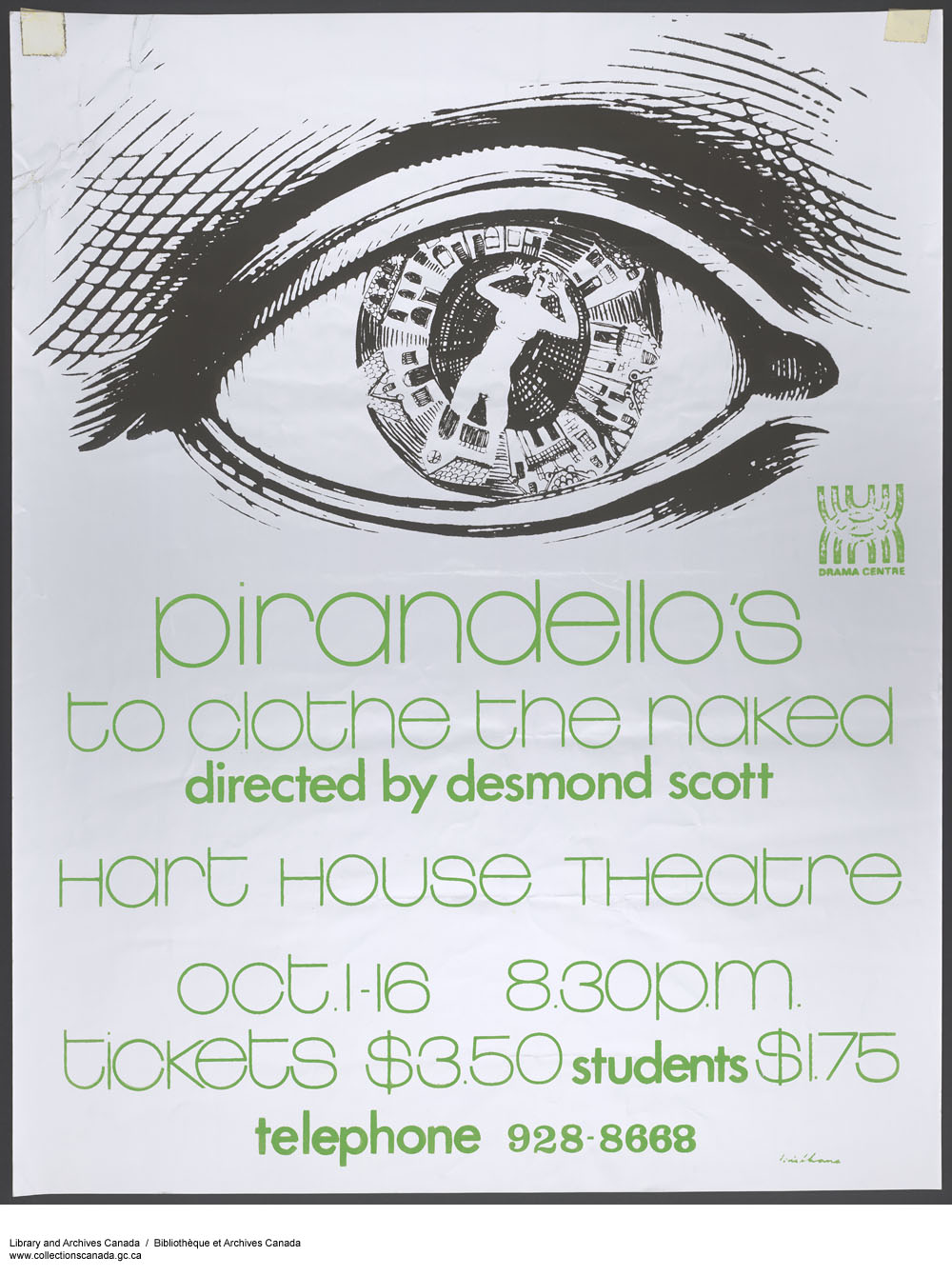 Hart House Theater presents: Piranaello's - to Clothe the Naked. (item 1)