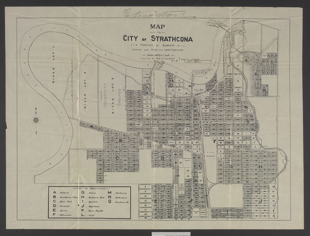 Map of the City of Strathcona, Province of Albert. (item 7)