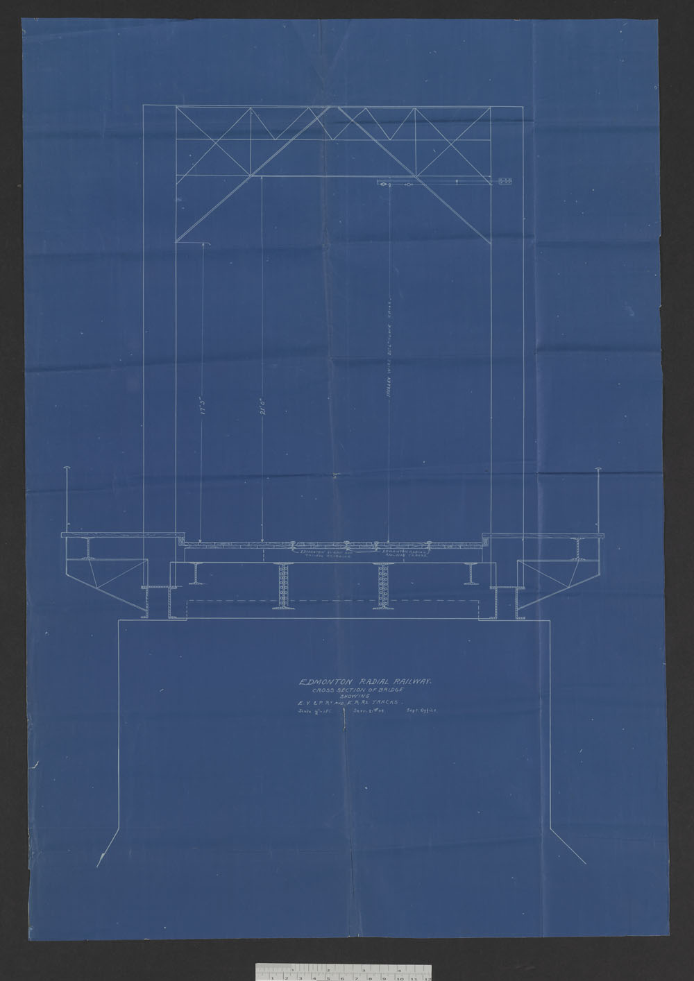 Edmonton Radial Railway - Plan and section showing tracks. (item 10)