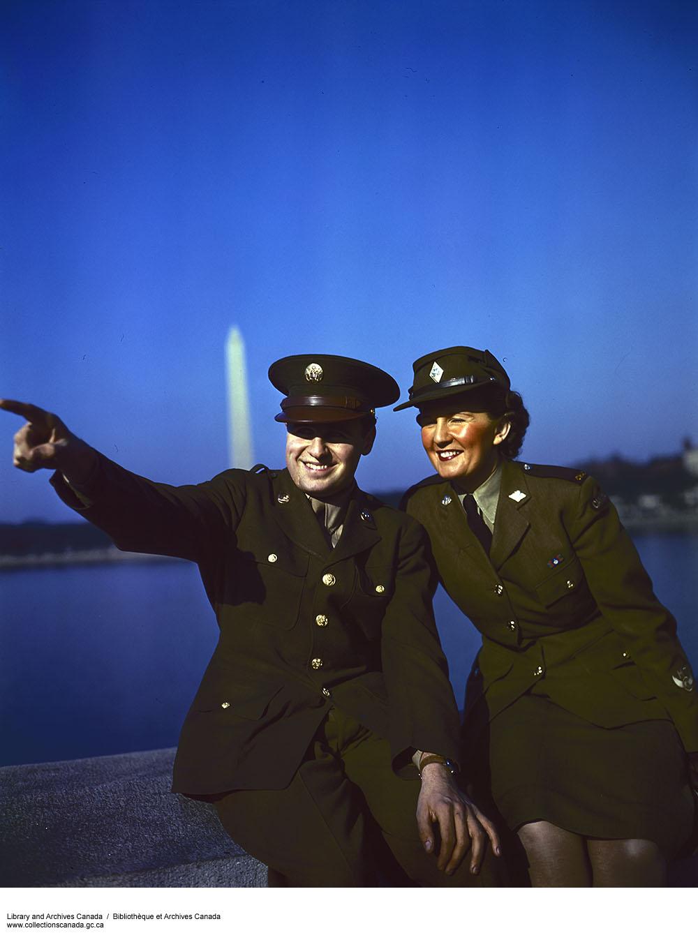 CWAC with U.S. Servicemen. (item 1)