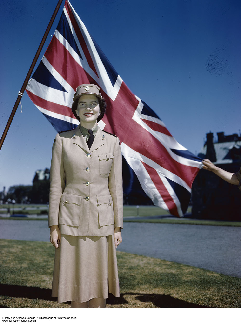 CWAC with Flag. (item 1)
