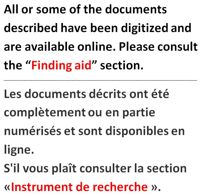 Pour un lien aux images numrises, consultez la section  Instrument de recherche  de cette description. (item 1)