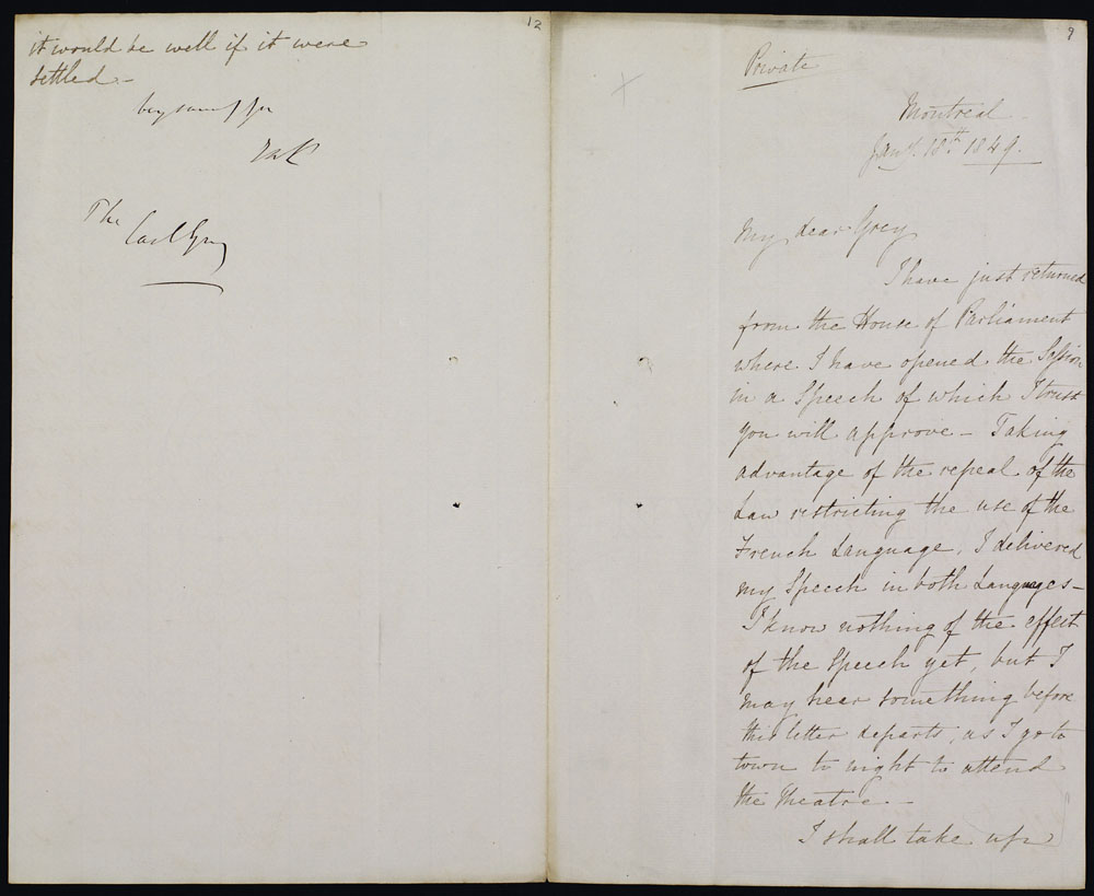 Private letter from Lord Elgin to Lord Grey (copy) . (item 1)