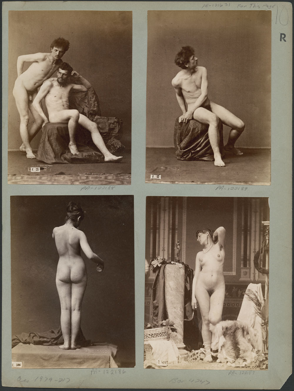 Photograph of nude male and female models