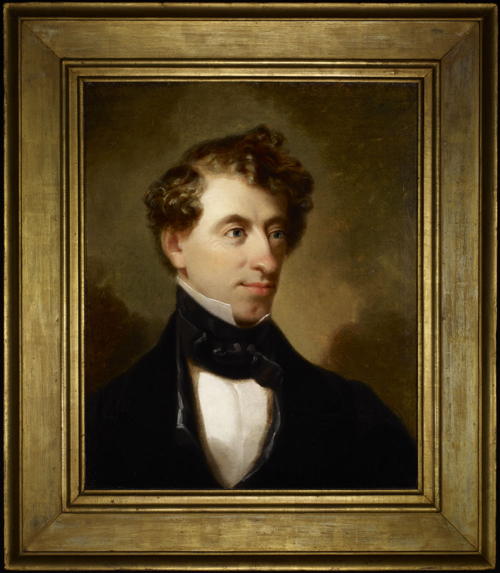 Portrait of John A. Macdonald as a young man.