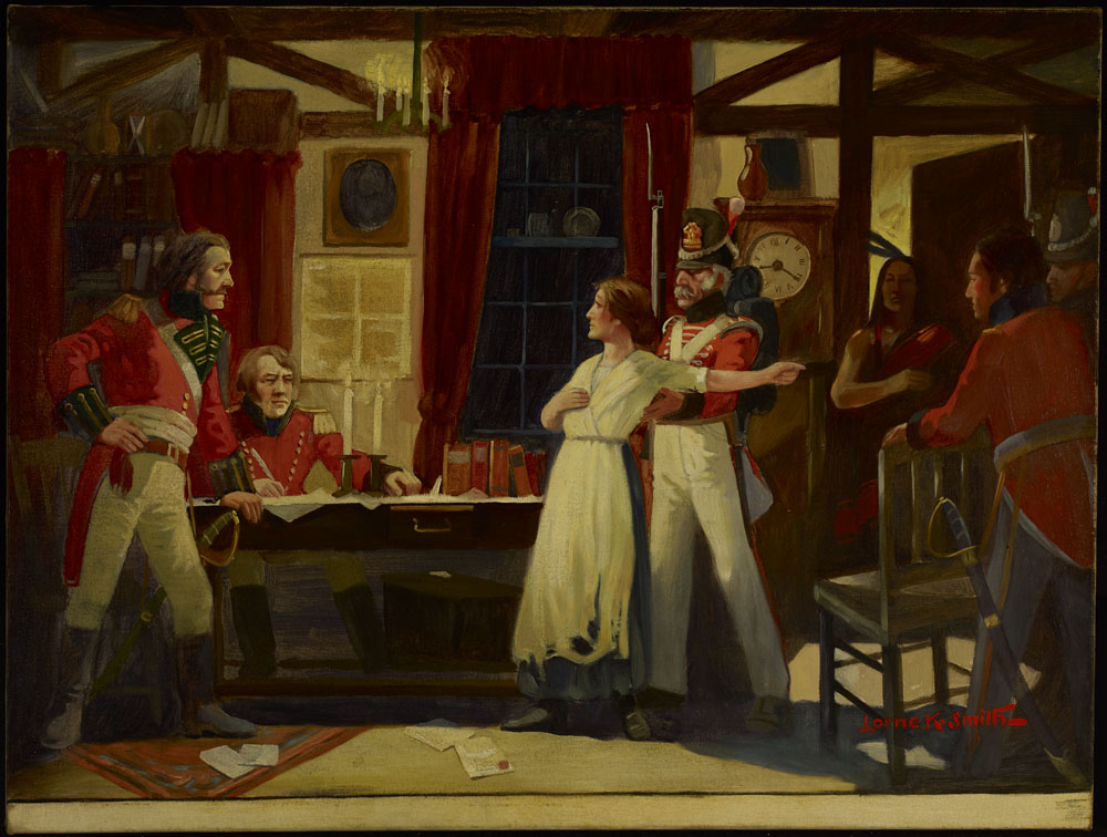Rencontre entre Laura Secord et le lieutenant Fitzgibbon, juin 1813. (item 2)