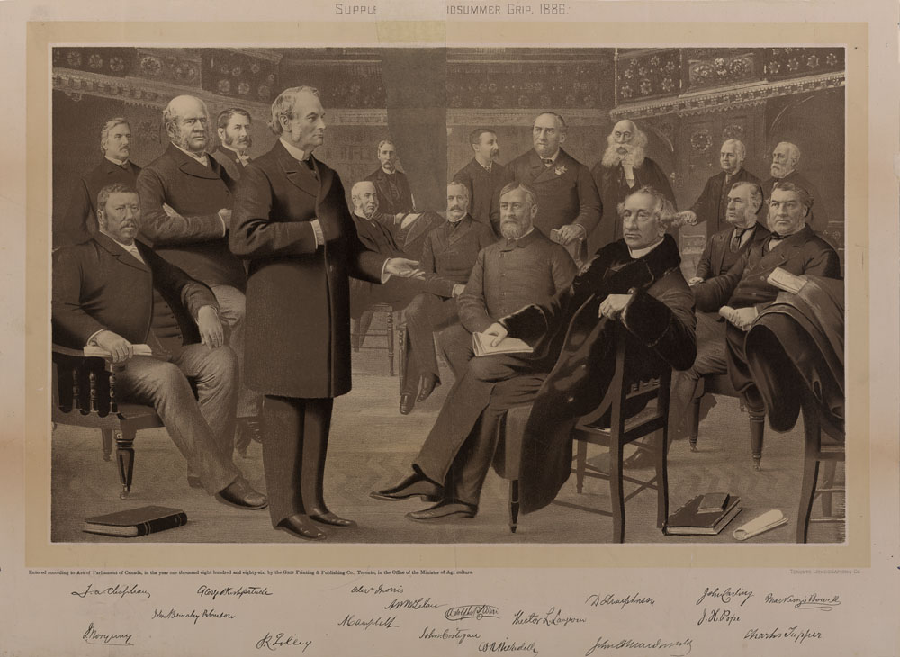Liberal-Conservative Federal Cabinet, 1886. (item 3)
