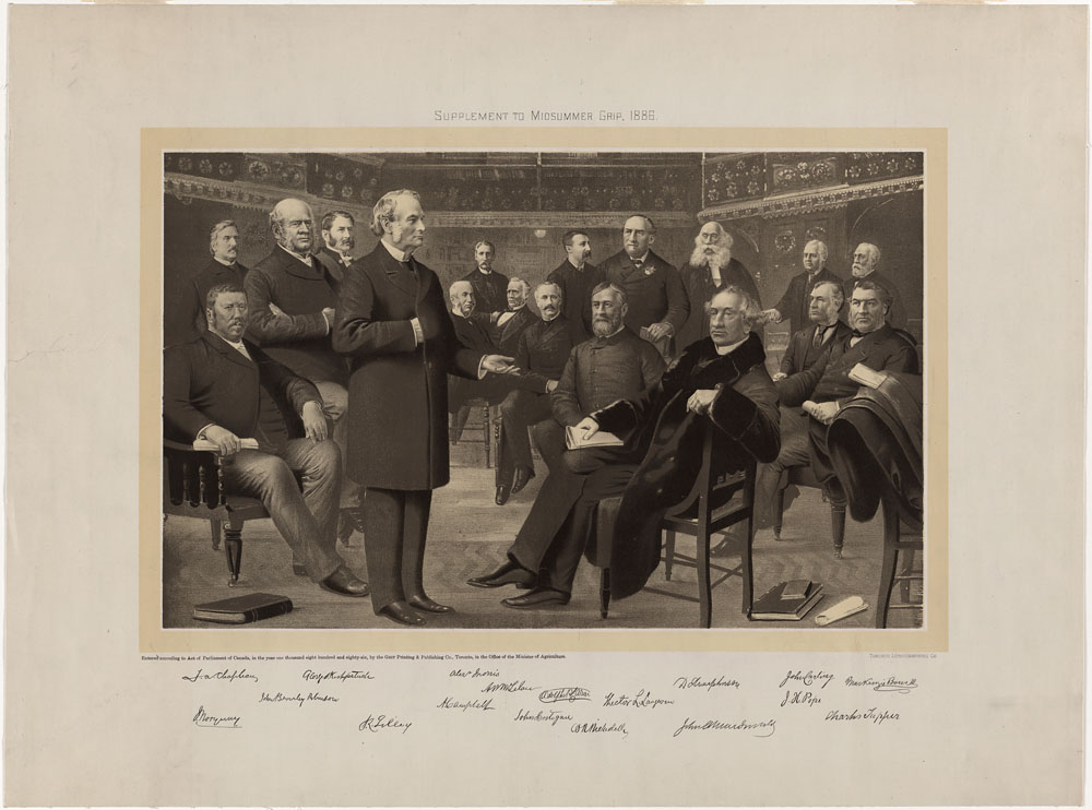 Liberal-Conservative Federal Cabinet, 1886. (item 2)