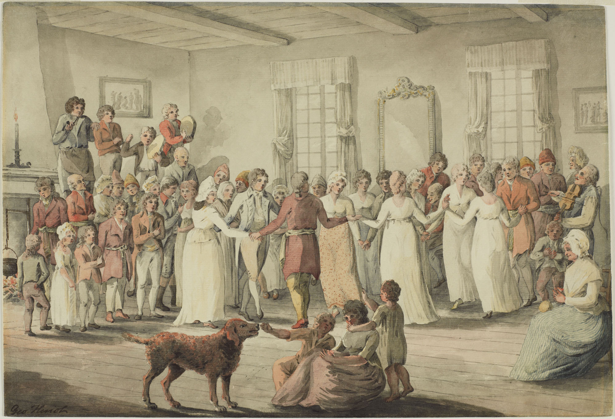 Dance in the Château St. Louis, 1801. (item 2)