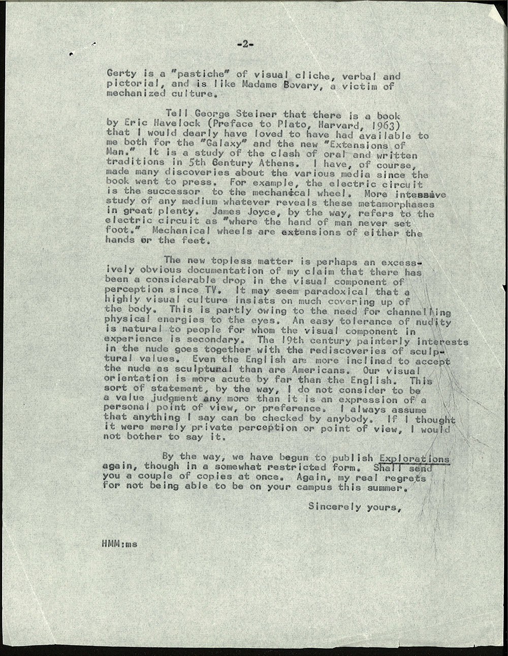 Letter dated July 3, 1964 to Michael Wolff (page 2)
