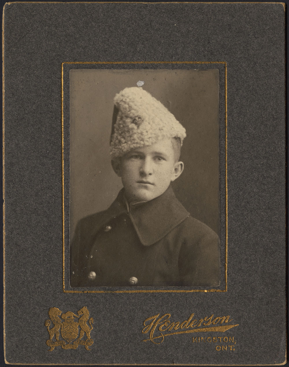 "Portrait of William A. ""Billy"" Bishop as a cadet at Royal Military College in Kingston. (item 2)"