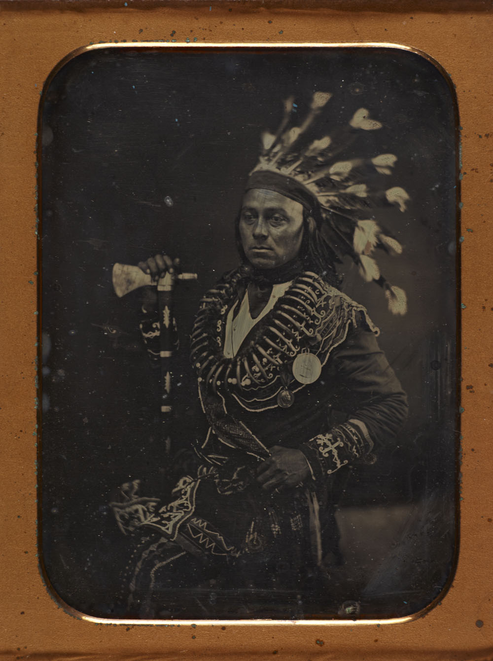 Maun-gua-daus (or Maun-gwa-daus), alias George Henry, original chief of the Ojibway nation of Credit (Upper Canada)