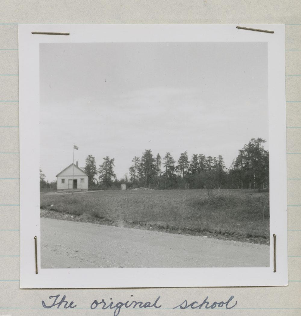 Big Eddy Indian Day School, the original school, The Pas, ca. summer 1947