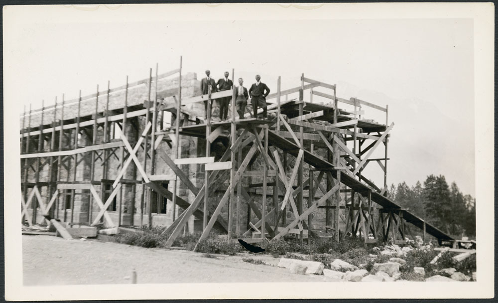 St. George's Indian Residential School (Lytton), construction of new chapel, Lytton, May 5, 1929