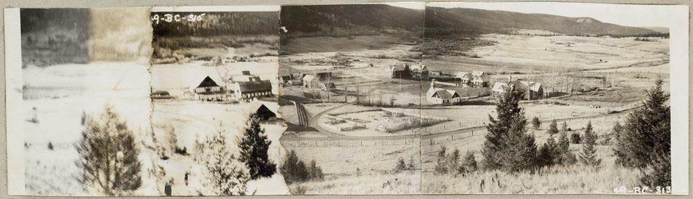 Pensionnat indien de Cariboo, vue panoramique, Williams Lake, 1949