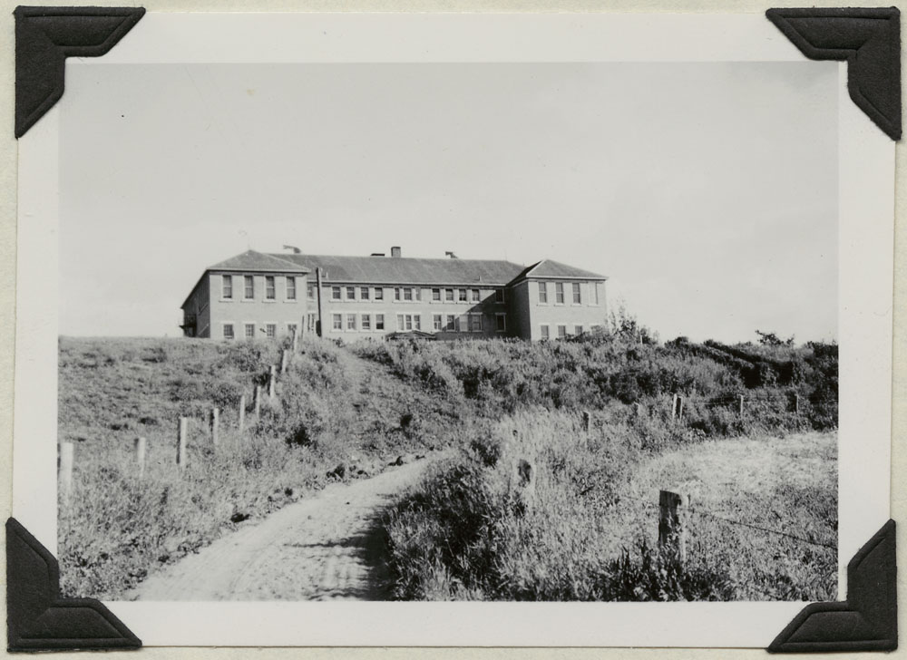 Lejac Indian Residential School, front view, Fraser Lake,  August 1941