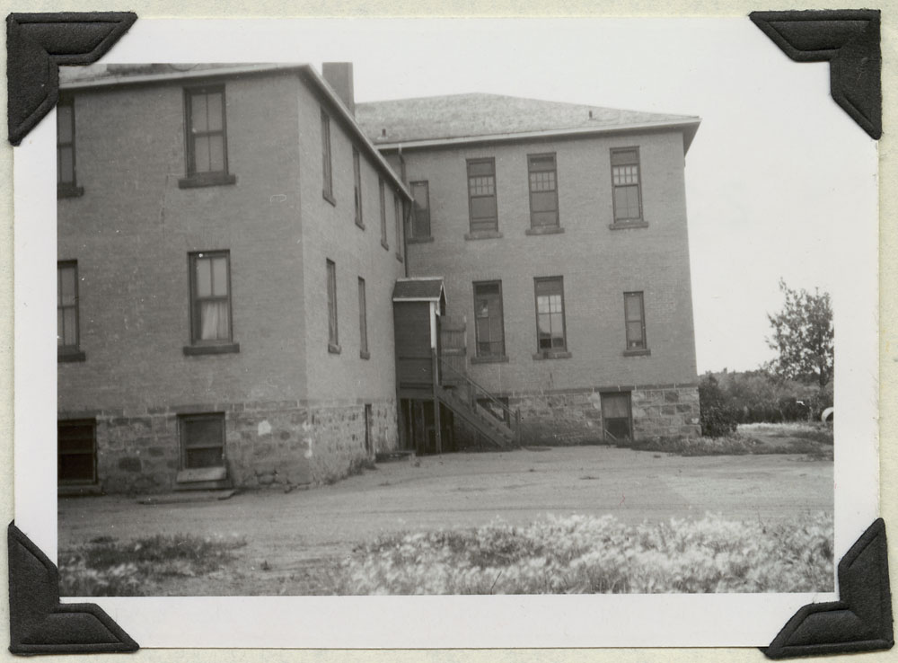 File Hills Indian Residential School, rear view, Balcarres, August 19, 1948