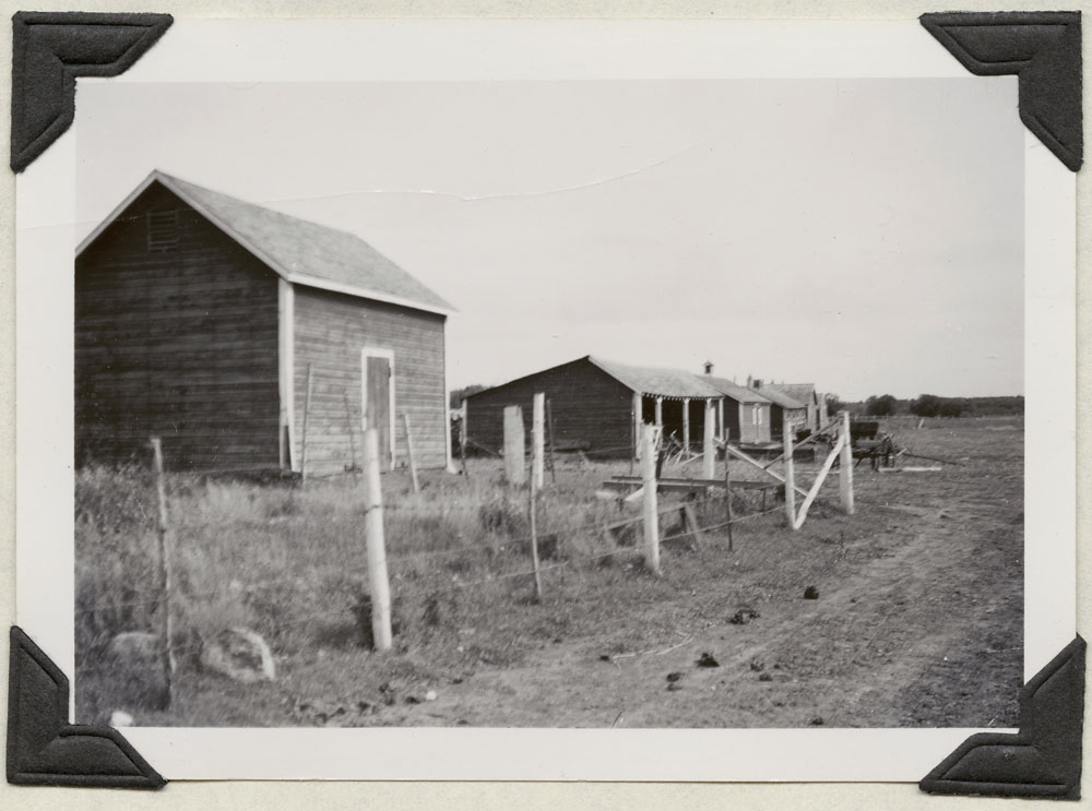 File Hills Indian Residential School, storage sheds, Balcarres, August 19, 1948