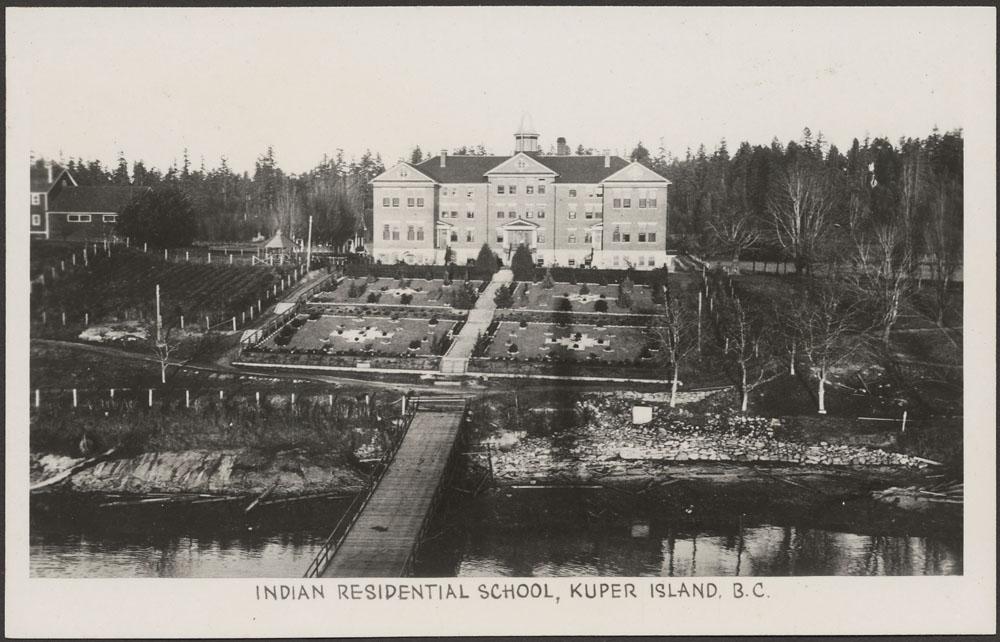 Kuper Island Indian Residential School, panoramic view, June 19, 1941