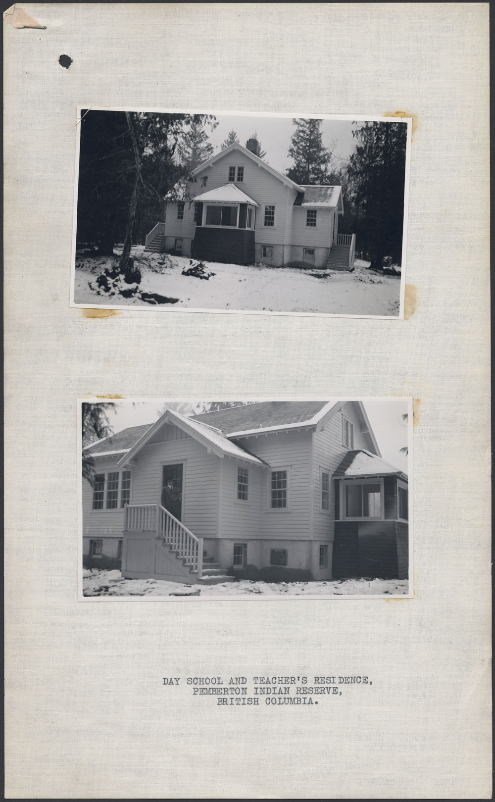 Day School and Teacher's Residence, two views, Pemberton Reserve, 1939